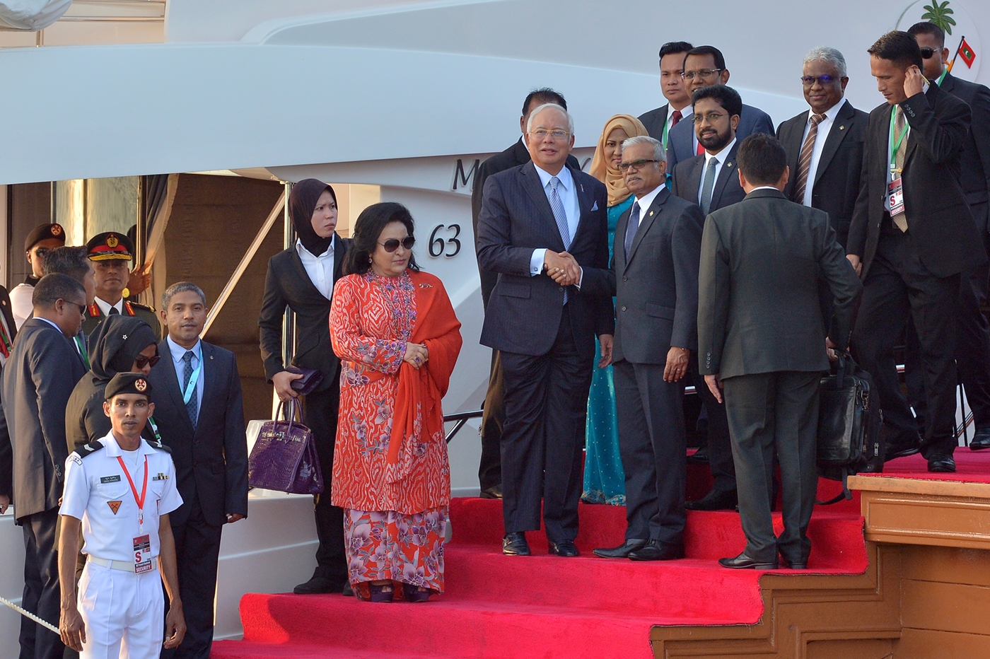 Prime Minister and First Lady of Malaysia arrive in the